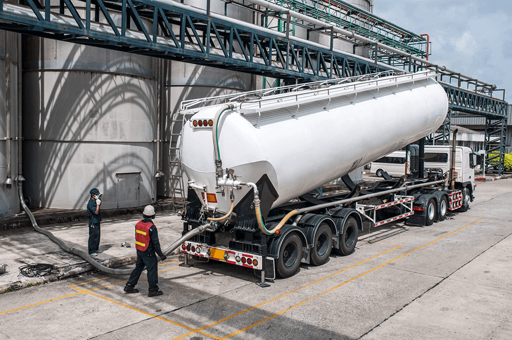 truck tanker chemical delivery
